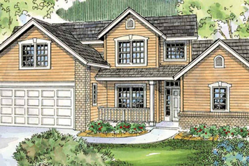 Dream House Plan - Traditional Exterior - Front Elevation Plan #124-767