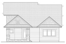 House Plan Design - Craftsman Exterior - Rear Elevation Plan #453-621