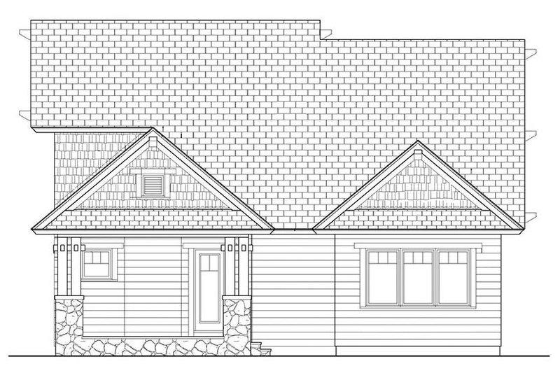 Craftsman Exterior - Rear Elevation Plan #453-621 - Houseplans.com