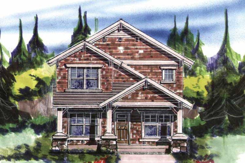 Prairie Exterior - Front Elevation Plan #509-241