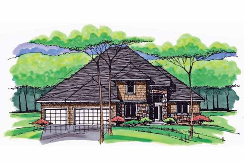 Dream House Plan - Colonial Exterior - Front Elevation Plan #51-1034