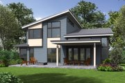 Contemporary Style House Plan - 4 Beds 3 Baths 2873 Sq/Ft Plan #48-706 Exterior - Rear Elevation