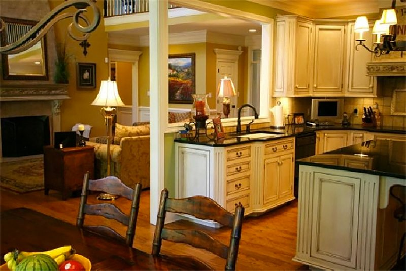European Interior - Kitchen Plan #137-227 - Houseplans.com