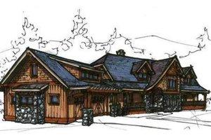 Craftsman Exterior - Front Elevation Plan #921-8