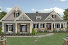 Architectural House Design - Craftsman Exterior - Front Elevation Plan #56-726