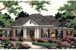 Colonial Exterior - Front Elevation Plan #406-125
