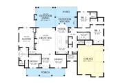 Farmhouse Style House Plan - 3 Beds 2.5 Baths 2523 Sq/Ft Plan #48-984 Floor Plan - Main Floor Plan