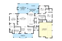 Farmhouse Floor Plan - Main Floor Plan Plan #48-984