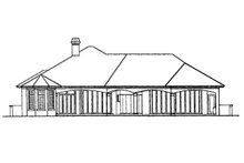 Mediterranean Exterior - Rear Elevation Plan #930-291