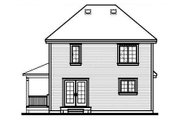 Country Style House Plan - 3 Beds 2 Baths 1530 Sq/Ft Plan #23-262 Exterior - Rear Elevation