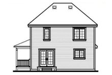 Home Plan Design - Country Exterior - Rear Elevation Plan #23-262