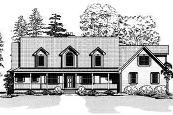 Country Exterior - Front Elevation Plan #9-110