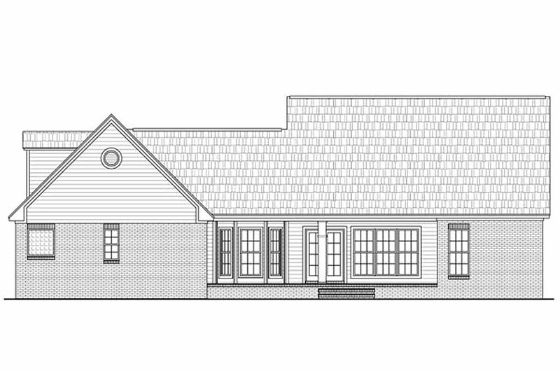 Country Exterior - Rear Elevation Plan #21-196 - Houseplans.com