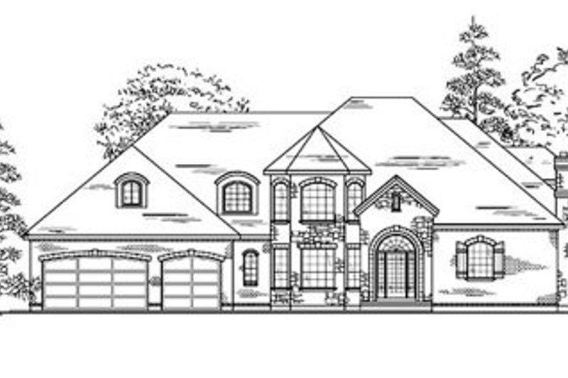 European Style House Plan - 7 Beds 4.5 Baths 4339 Sq/Ft Plan #5-223