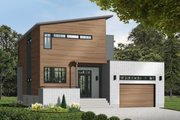 Modern Style House Plan - 3 Beds 2.5 Baths 1784 Sq/Ft Plan #23-2236 Exterior - Front Elevation