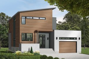 Modern Exterior - Front Elevation Plan #23-2236