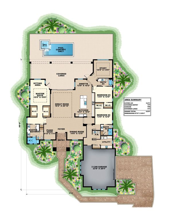 Traditional Floor Plan - Main Floor Plan Plan #27-499