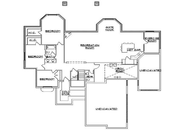 European Floor Plan - Lower Floor Plan Plan #5-305