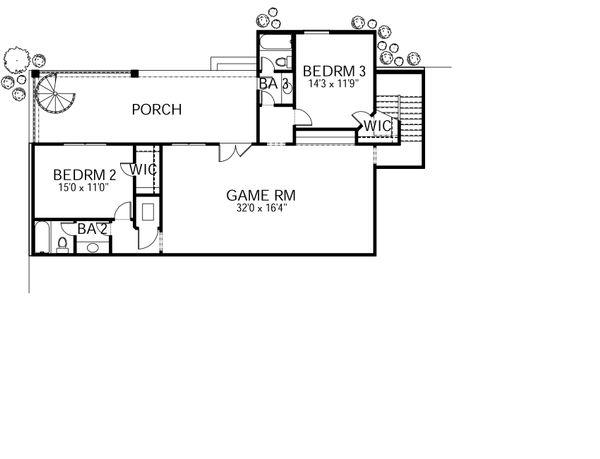 Mediterranean Floor Plan - Lower Floor Plan Plan #80-209