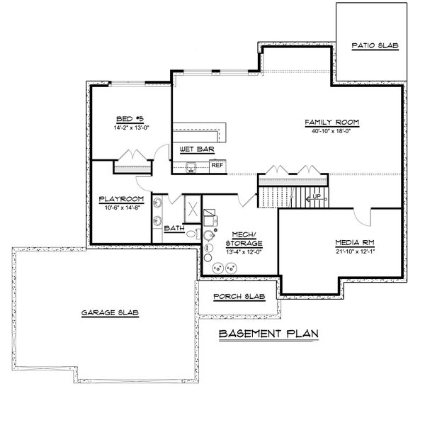 Dream House Plan - Ranch Floor Plan - Lower Floor Plan #1064-82