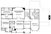 European Style House Plan - 4 Beds 3.5 Baths 3247 Sq/Ft Plan #119-247 Floor Plan - Upper Floor