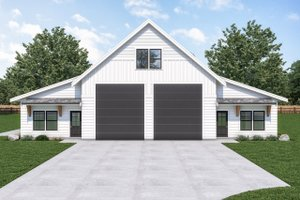 Dream House Plan - Farmhouse Exterior - Front Elevation Plan #1070-121