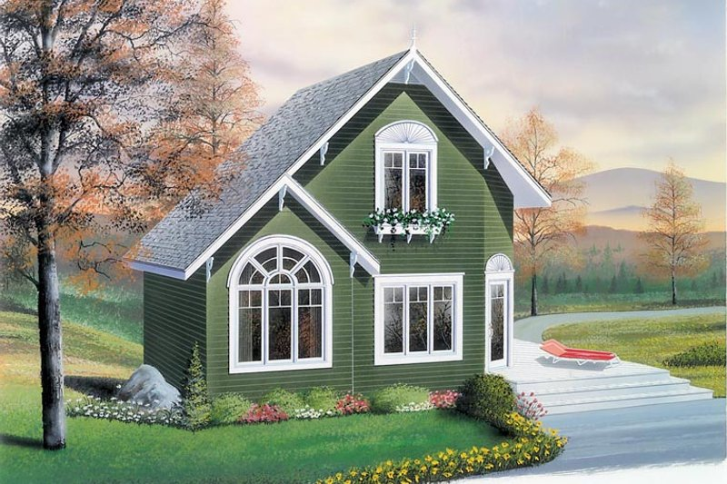 Home Plan - Traditional Exterior - Front Elevation Plan #23-2025