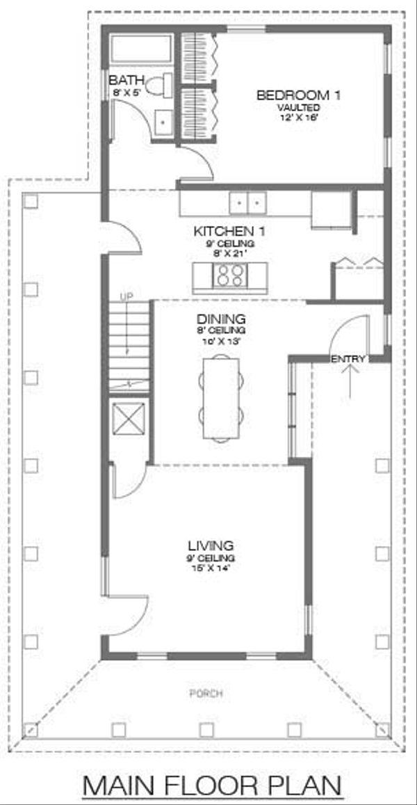 Farmhouse Floor Plan - Main Floor Plan Plan #486-1
