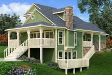 Home Plan - Craftsman Exterior - Rear Elevation Plan #45-591