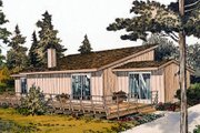 Contemporary Style House Plan - 2 Beds 1 Baths 888 Sq/Ft Plan #312-566