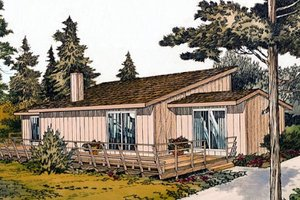 Contemporary Exterior - Front Elevation Plan #312-566
