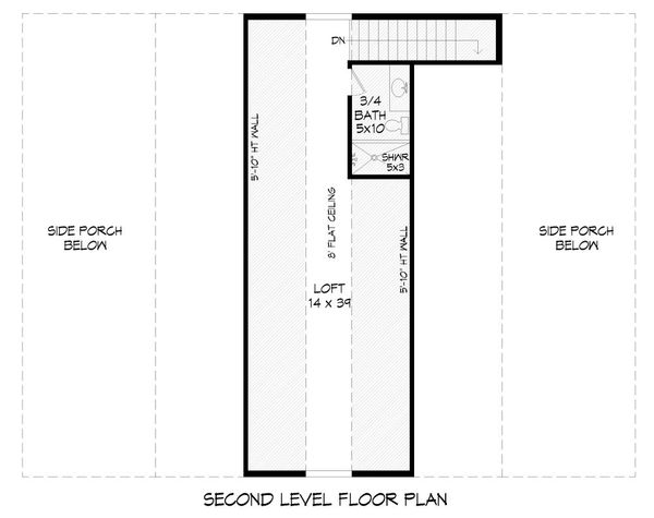 Farmhouse Floor Plan - Upper Floor Plan Plan #932-31