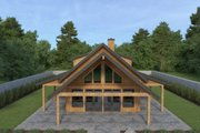 Cabin Style House Plan - 2 Beds 2 Baths 1646 Sq/Ft Plan #1070-100 Exterior - Other Elevation