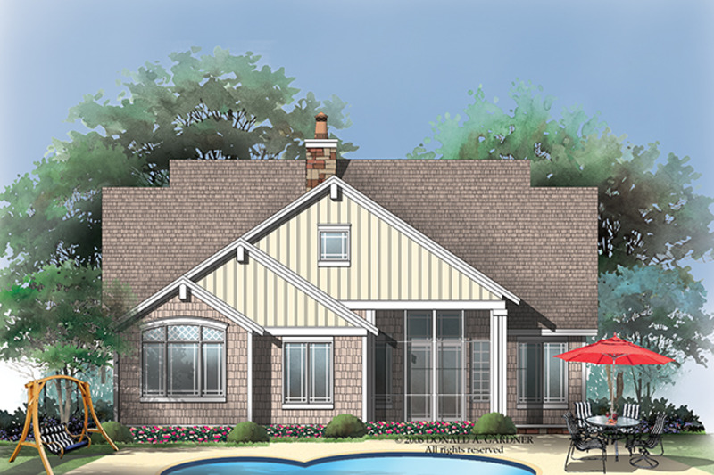 Craftsman Exterior - Rear Elevation Plan #929-917 - Houseplans.com