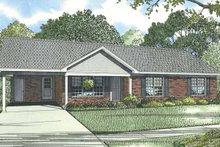 Architectural House Design - Ranch Exterior - Front Elevation Plan #17-3297