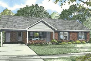 Ranch Exterior - Front Elevation Plan #17-3297