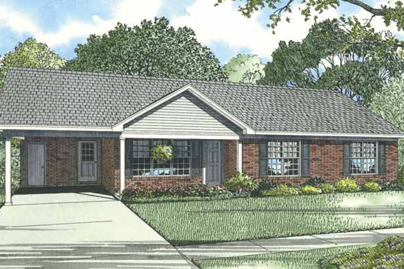 Dream House Plan - Ranch Exterior - Front Elevation Plan #17-3297