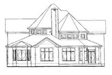 Architectural House Design - European Exterior - Rear Elevation Plan #20-260