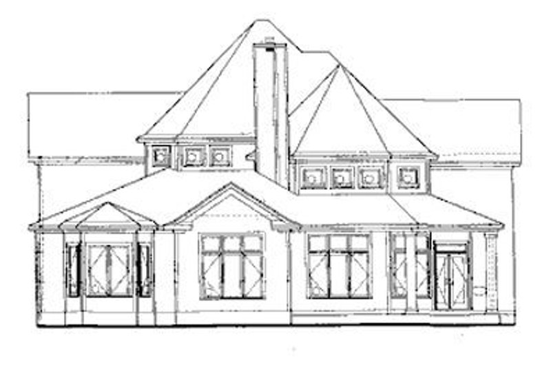 European Exterior - Rear Elevation Plan #20-260 - Houseplans.com