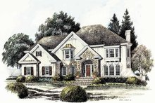 Home Plan - Country Exterior - Front Elevation Plan #429-266