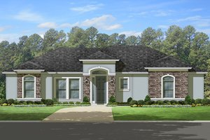 Home Plan Design - Mediterranean Exterior - Front Elevation Plan #1058-112