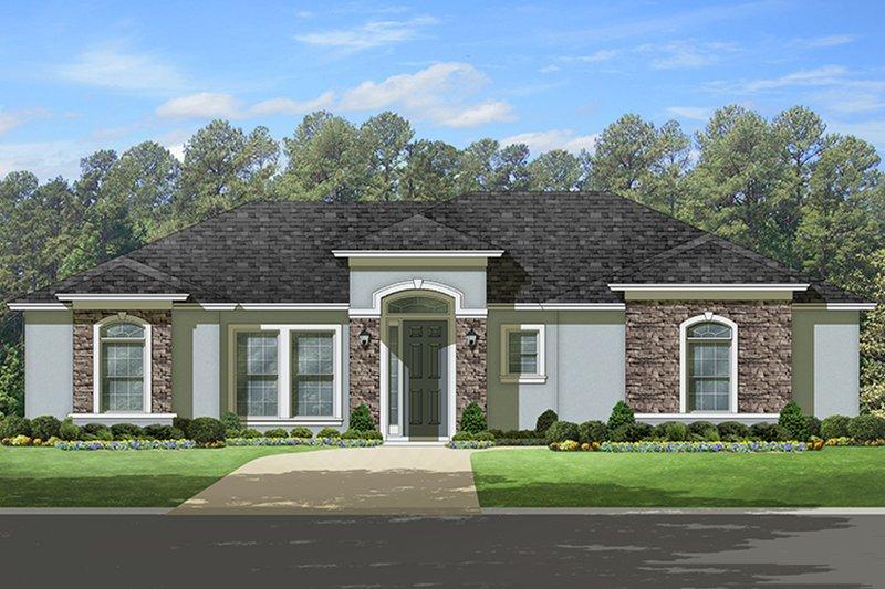 Architectural House Design - Mediterranean Exterior - Front Elevation Plan #1058-112