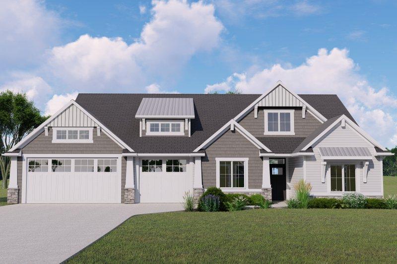 House Design - Craftsman Exterior - Front Elevation Plan #1064-152
