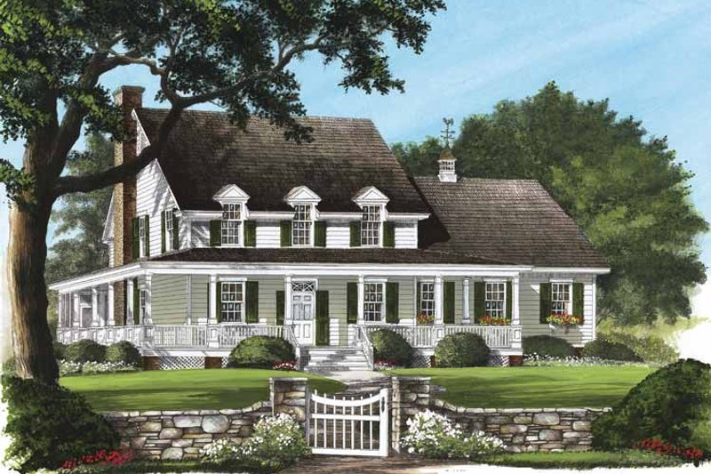 Architectural House Design - Country Exterior - Front Elevation Plan #137-319