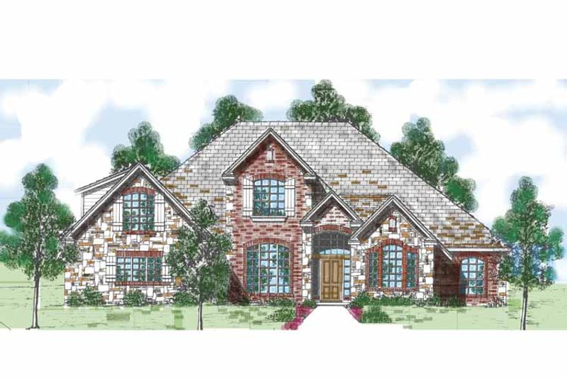Traditional Exterior - Front Elevation Plan #52-281 - Houseplans.com
