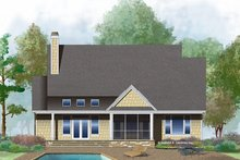 Ranch Exterior - Rear Elevation Plan #929-1013