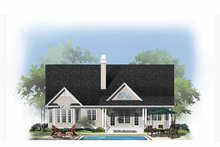 Country Exterior - Rear Elevation Plan #929-888