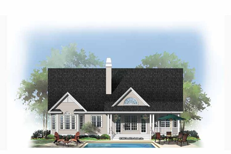 Country Exterior - Rear Elevation Plan #929-888 - Houseplans.com