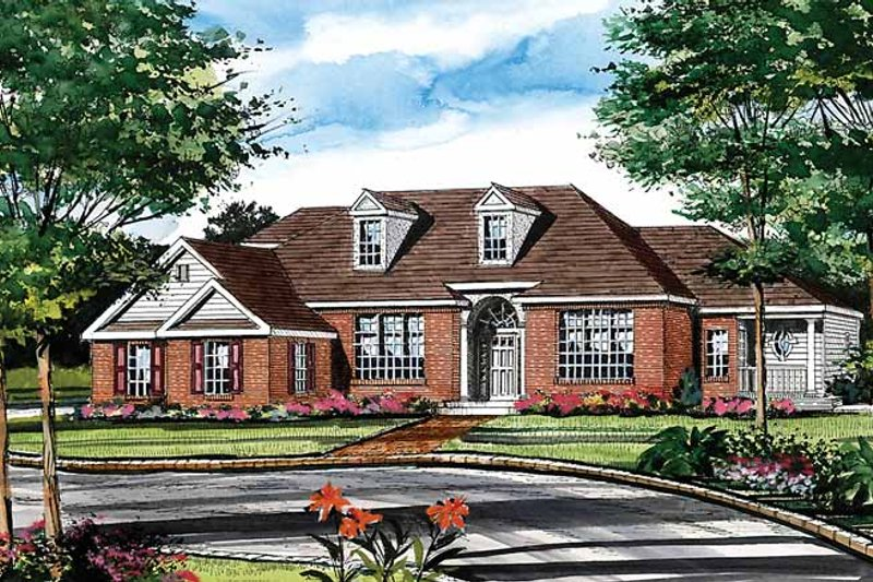 Ranch Exterior - Front Elevation Plan #314-202 - Houseplans.com
