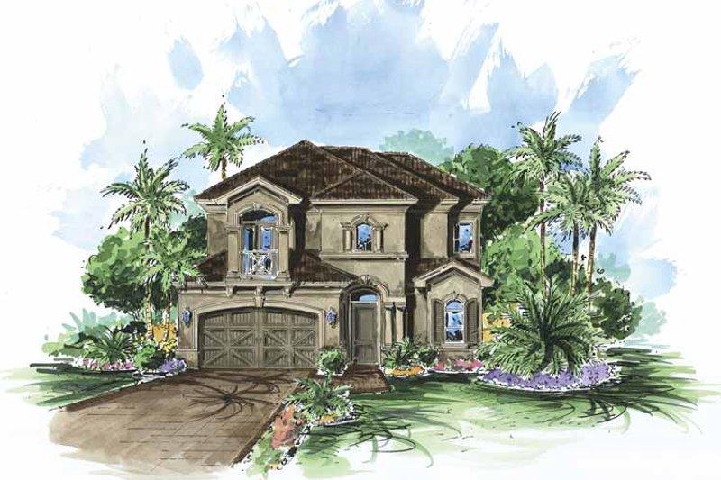 Dream House Plan - Mediterranean Exterior - Front Elevation Plan #1017-91